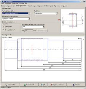 Software für Tragfähigkeitsberechnung von Getriebewellen