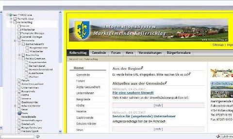 Regionales Informationssystem – CMS basierendes Portal für Gemeinden