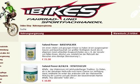 e-commerce Portal der Firma iBIKES