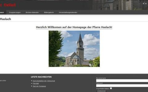 Internetportal der Pfarre Haslach