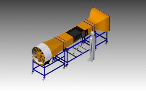 Windkanal für Modellfahrzeuge