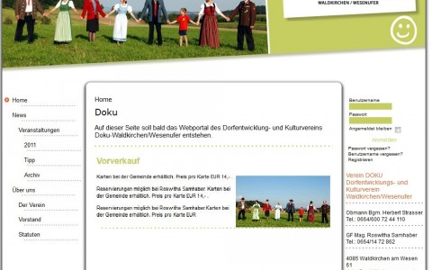 Webplattform für Kulturverein
