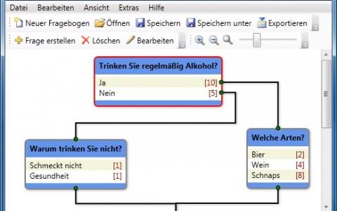 Fragebogendesigner für Online-Fragebögen des AKH Linz