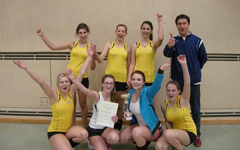 Die Bezirksmeisterinnen im Volleyball kommen aus der HTL Neufelden