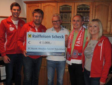 FCB – Fanclub Natternbach unterstützt Reinhard Steidl