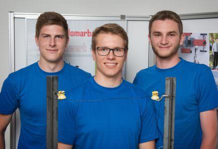 """3. Platz beim Wettbewerb """"Jugend Innovativ"""" für das Zaunmähwerk"""