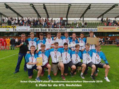 Großartiger 3. Platz der HTL Neufelden Kicker bei den   Bundesmeisterschaften