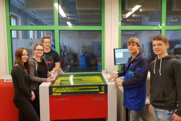Die neueste Lasertechnologie an der HTL Neufelden