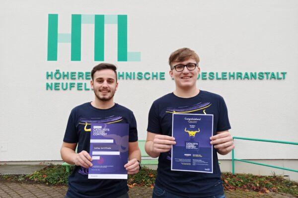 HTL Neufelden Schüler gewinnen den Coding-Contest an der Johannes Kepler Universität