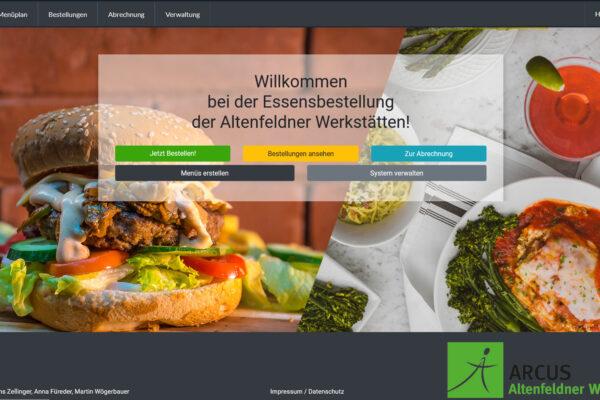 Essensbestellung der Altenfeldner Werkstätten