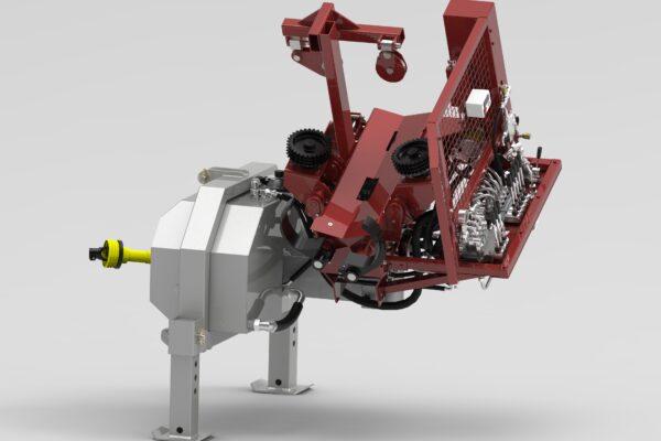 Entastungsmaschine für den Traktoranbau