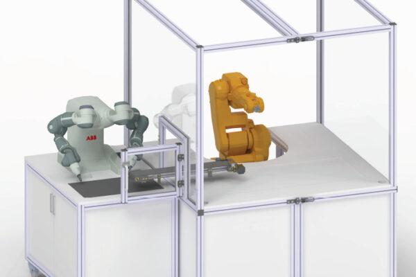 Ausbau des Robotiklabors und Programmierung kooperierender Roboter